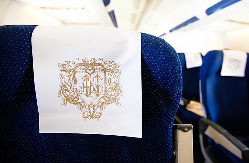 Personalisierte Flugzeugsitze für Berliner Hochzeit