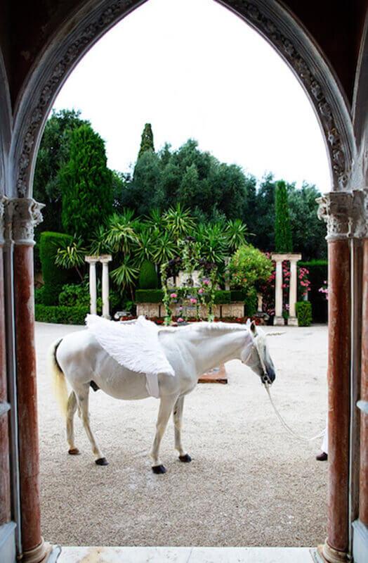 pferd-pegasos-künstler-hochzeit-frankreich